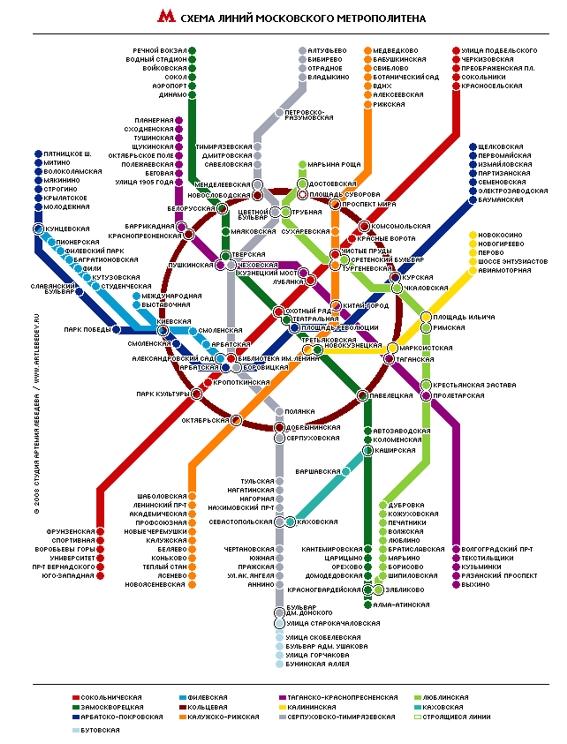 Карта метрополитена г.