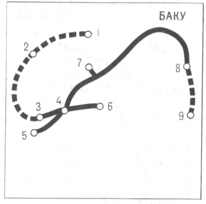 Схема Бакинского метрополитена